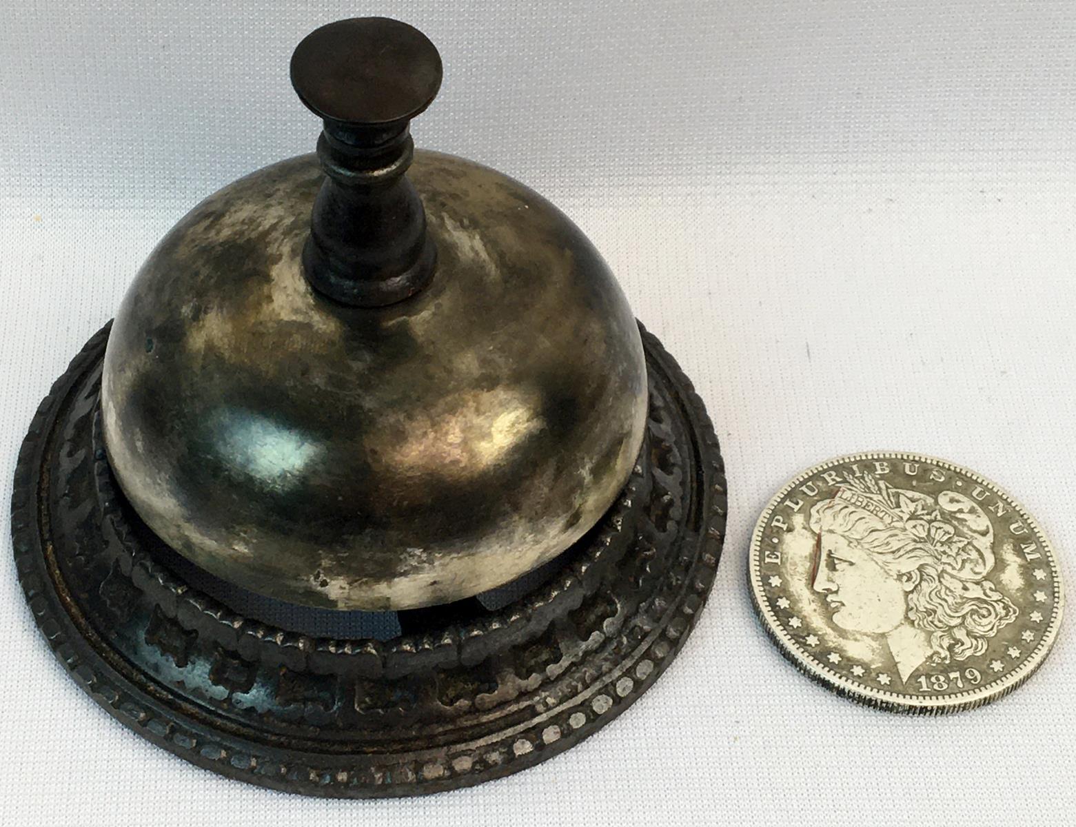 Antique 1863 Cast Iron Service Bell
