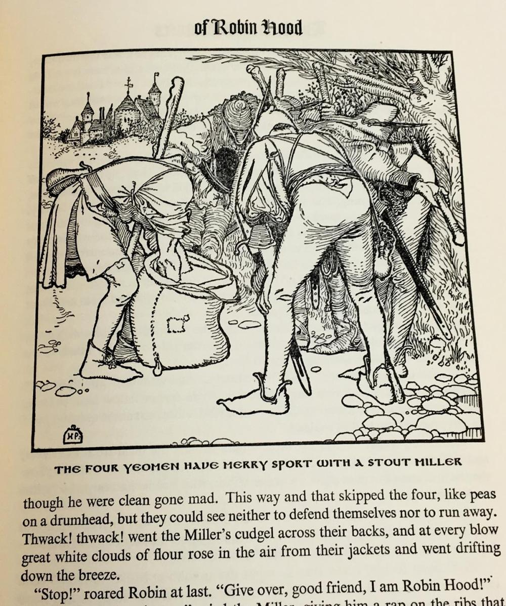 1946 The Merry Adventures of Robin Hood of Great Renown in Nottinghamshire by Howard Pyle w/ Dust Jacket ILLUSTRATED