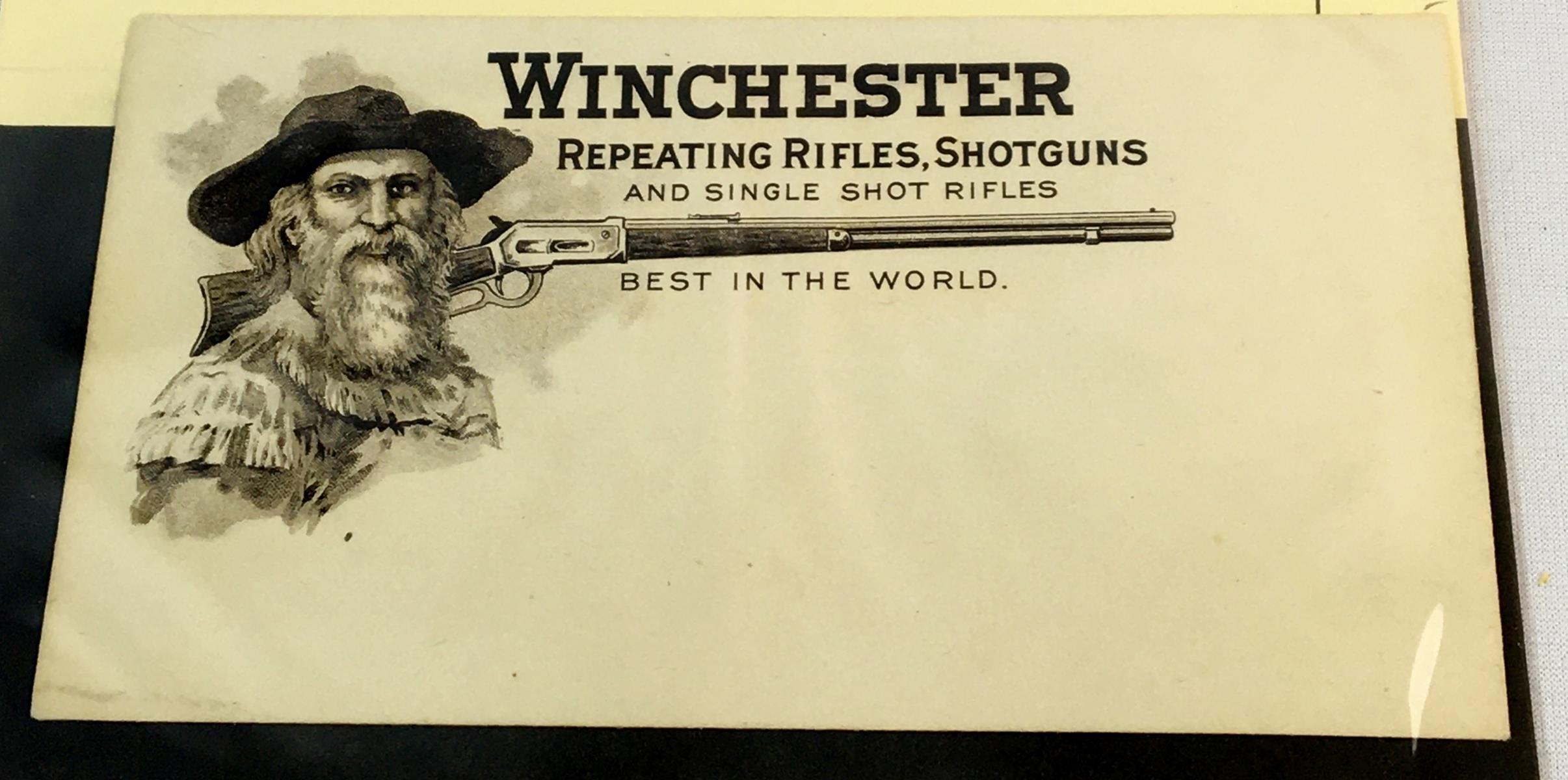 Antique Winchester Repeating Rifles & Shotguns Advertising Envelope