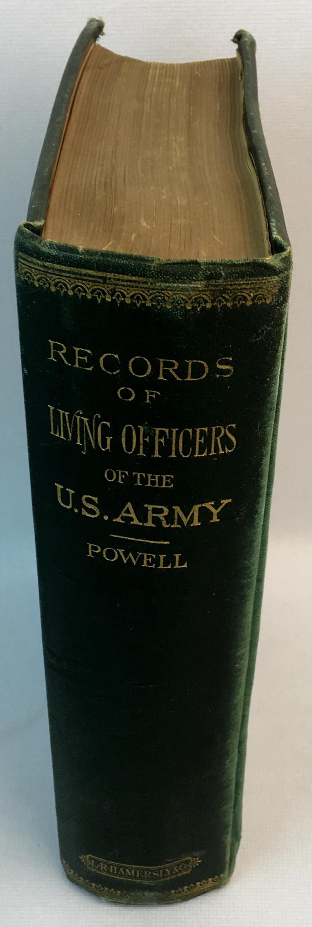 1890 Powell's Records of Living Officers of The United States Army by William H. Powell (Major 22nd Infantry) FIRST EDITION