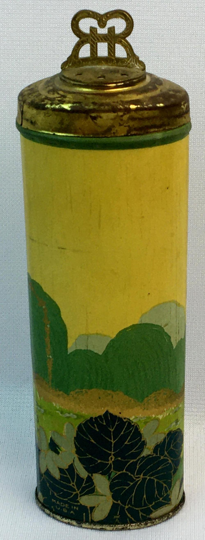 Vintage c.1920 Richard Hudnut Violet Sec Talcum Tin w/ Powder