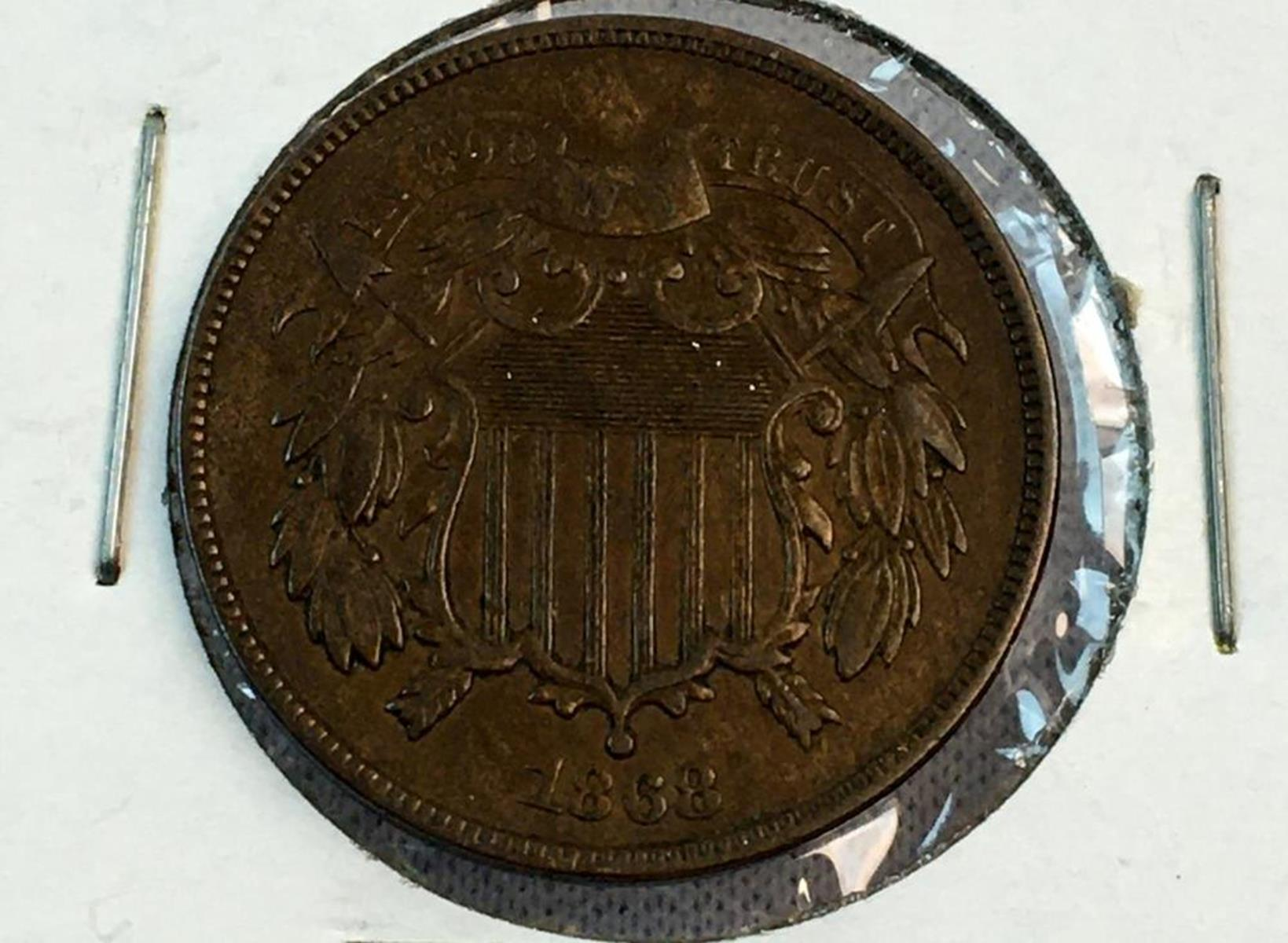1868 US 2-Cent Piece