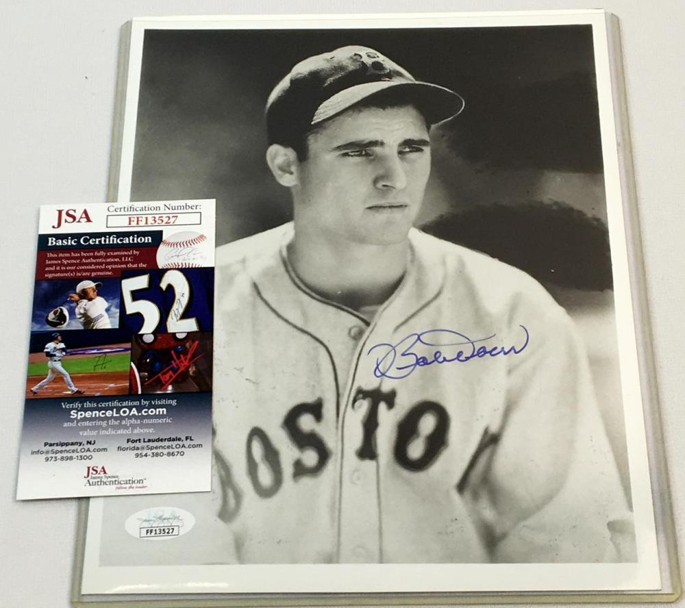 "Signed Bobby Doerr Boston Red Sox Black and White 8"" x 10"" Photo Print w/ JSA COA"