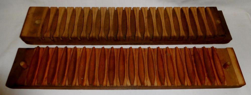 Antique 1897 Wooden 20 Section Cigar Mold by Miller Dubrul & Peters Mfg. Co.
