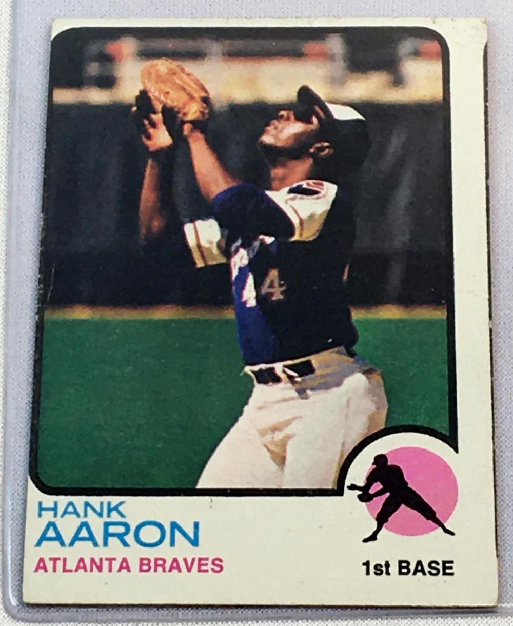 1973 Topps Set Break #100 Hank Aaron Baseball Card
