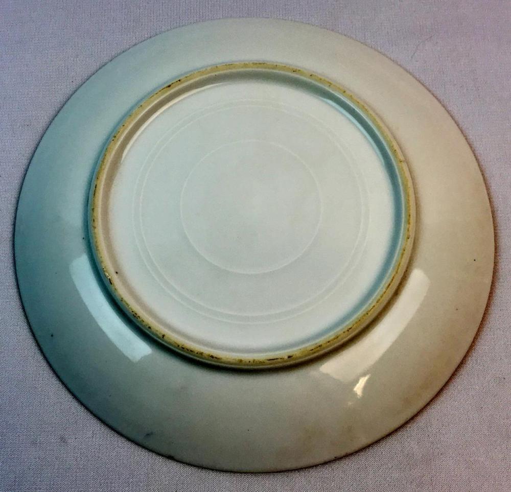 Antique Porcelain Hand painted Plate w/ Grapes & Gold Detail