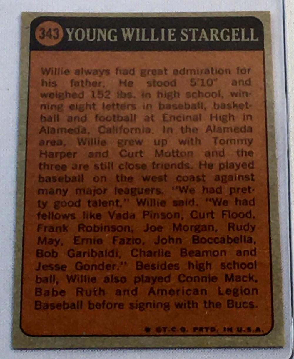 1972 Topps Set Break #343 Willie Stargell Baseball Card