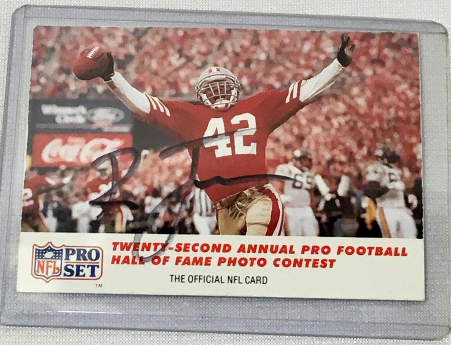 1990 Pro Set #793 Ronnie Lott San Francisco Autographed Football Card