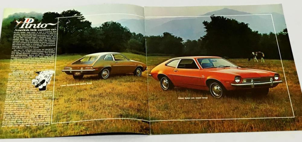 Vintage 1972 Ford Pinto Car Brochure