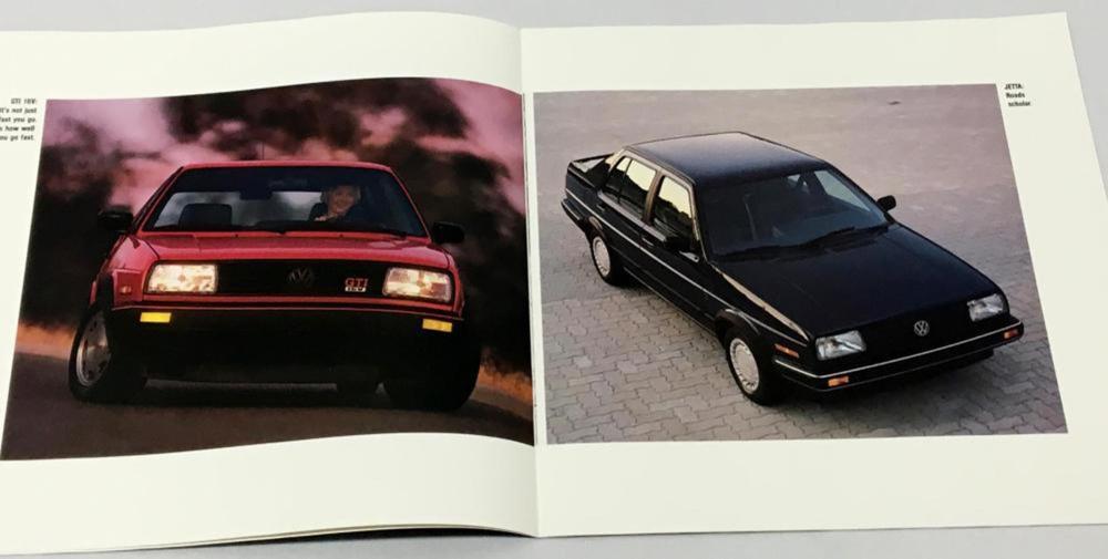 Vintage 1988 Volkswagen Advertising Car Brochure (Fox, Golf, Jetta, Etc..)