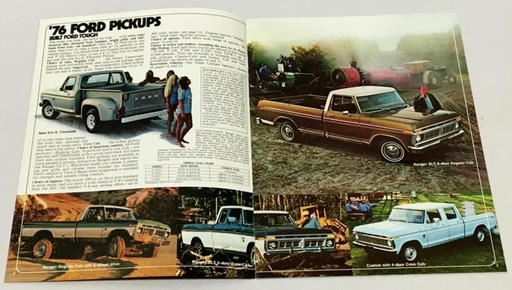 Vintage 1976 Ford Pickups Advertising Magazine