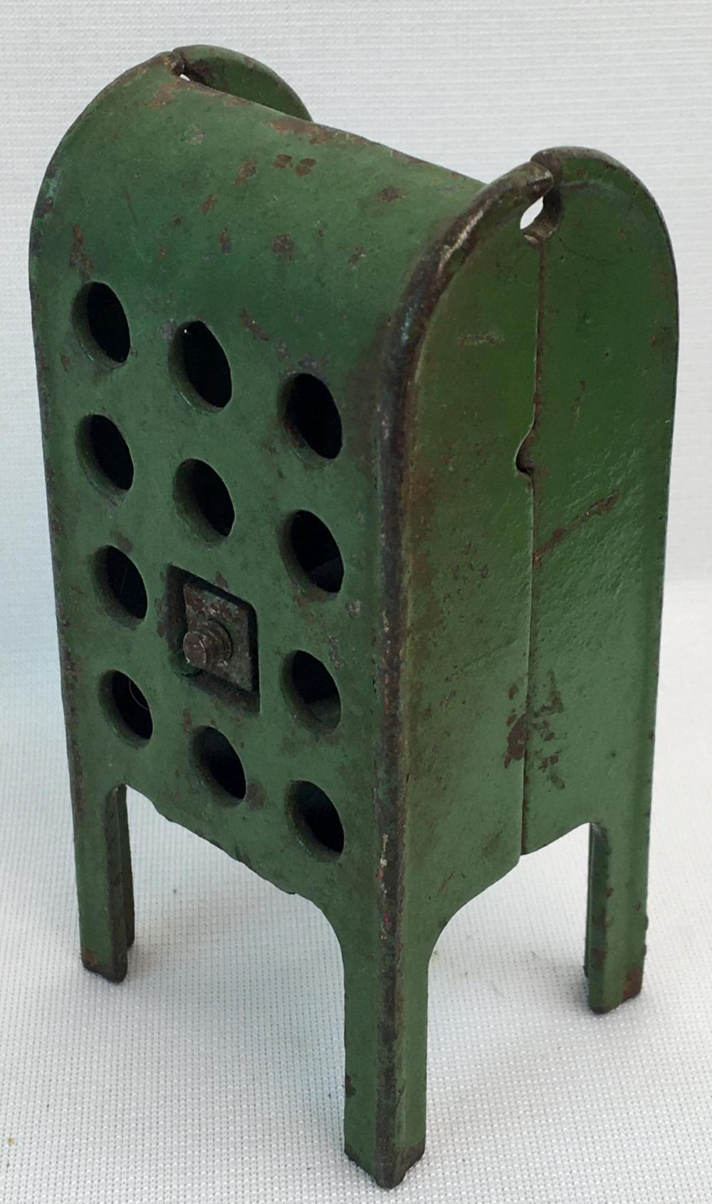 Picture of: Lot Antique C 1920 Cast Iron Green Painted Us Letters Mail Box Coin Still Bank