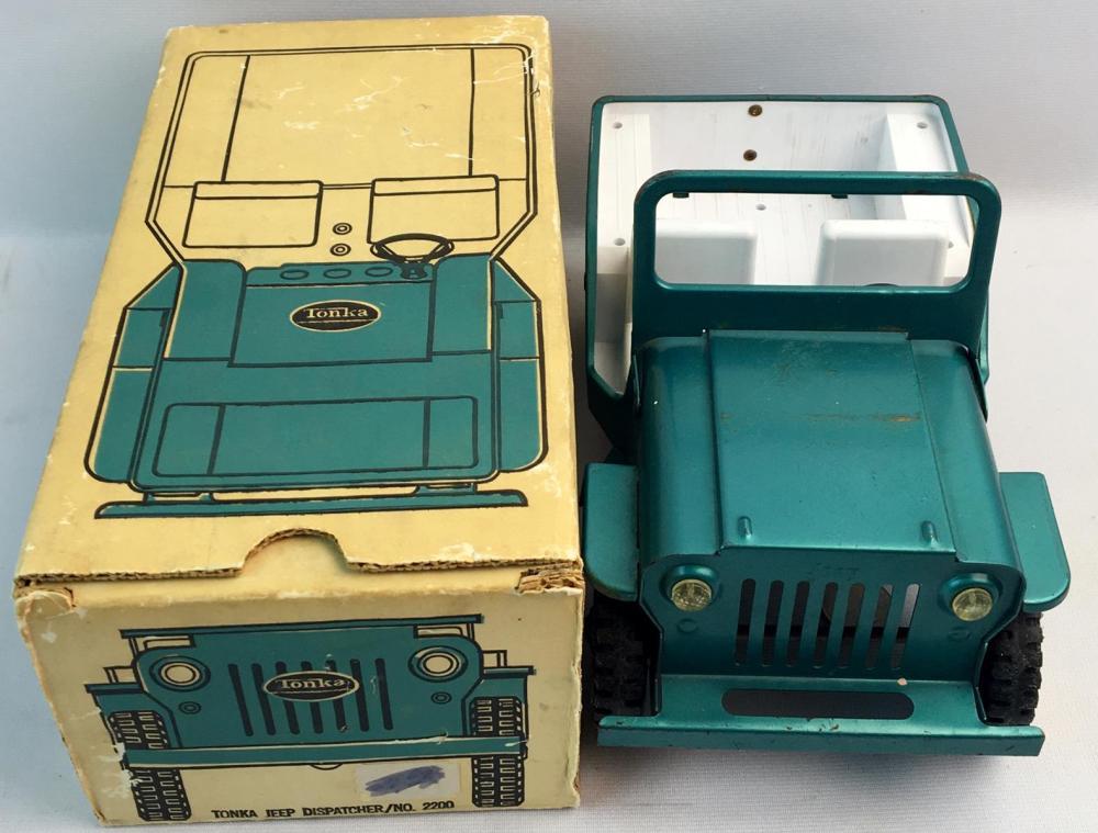 Vintage c. 1960 Tonka Jeep Dispatcher No. 2200 w/ Original Box