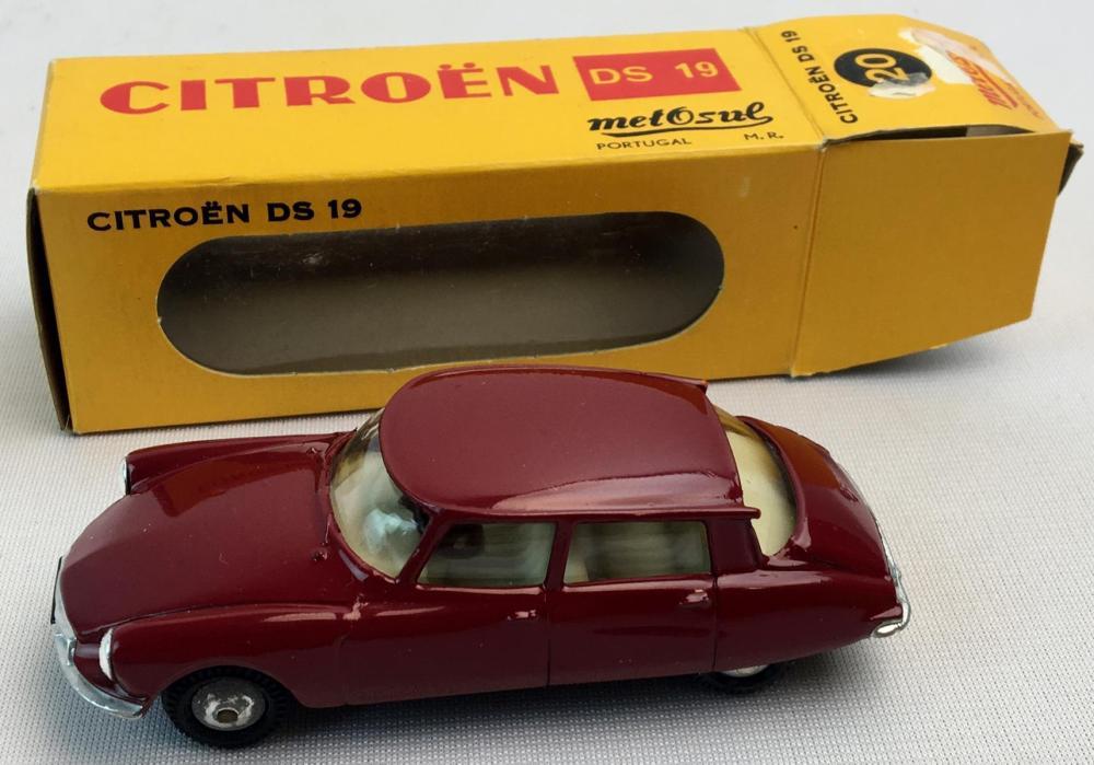 Vintage 1960's MetOsul Citroen DS 19 Sedan w/ Original Box