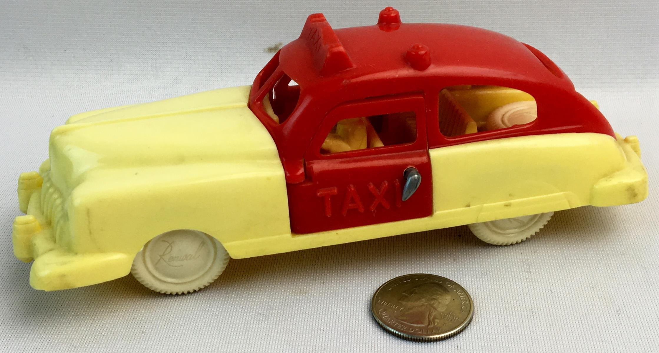 Vintage 1960's Renwal #41 Taxi Cab w/ Spare Tire