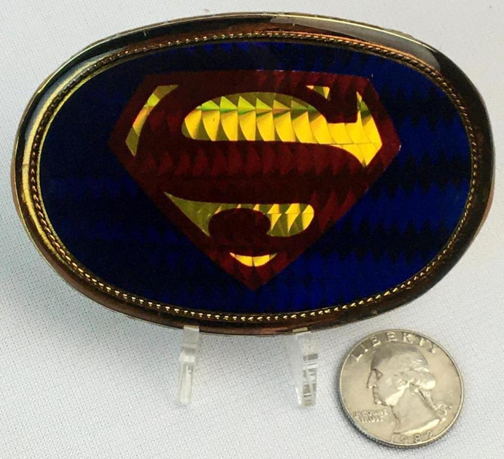 Vintage 1977 Pacifica Superman Belt Buckle