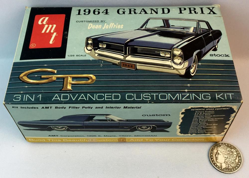 Vintage 1960's AMT 1964 Grand Prix Dean Jeffries Advanced 3 in 1 Customizing Kit 1:25 Model Kit UNBUILT