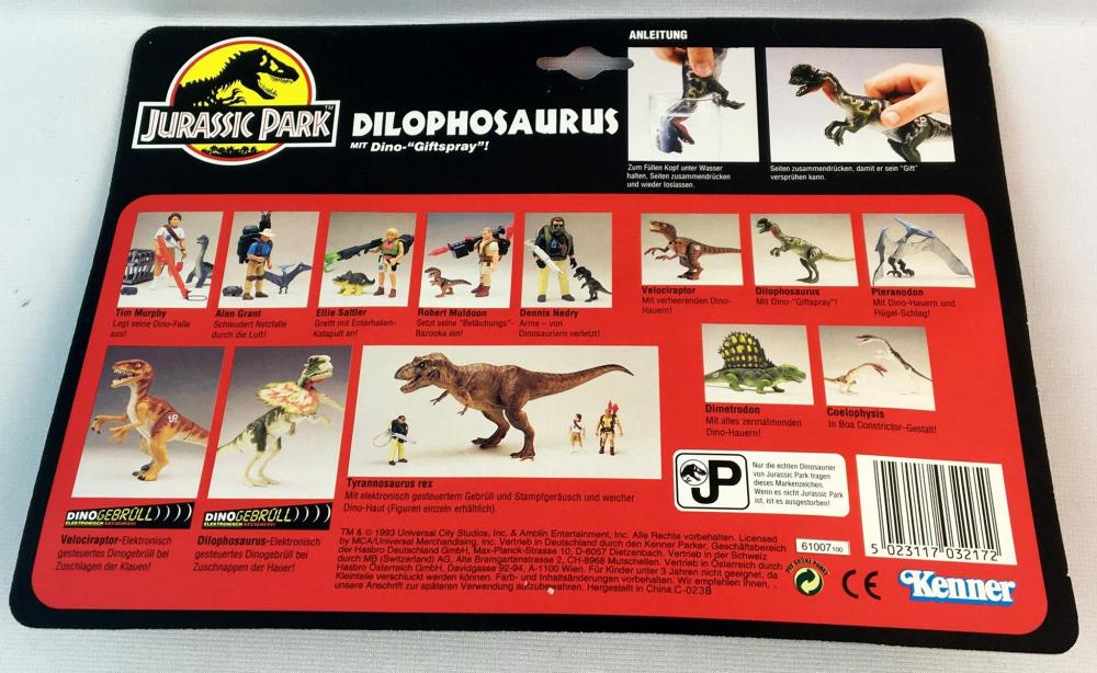 1993 Jurassic Park Dilophosaurus w/ Launching Tranq-Missile Dart MOC