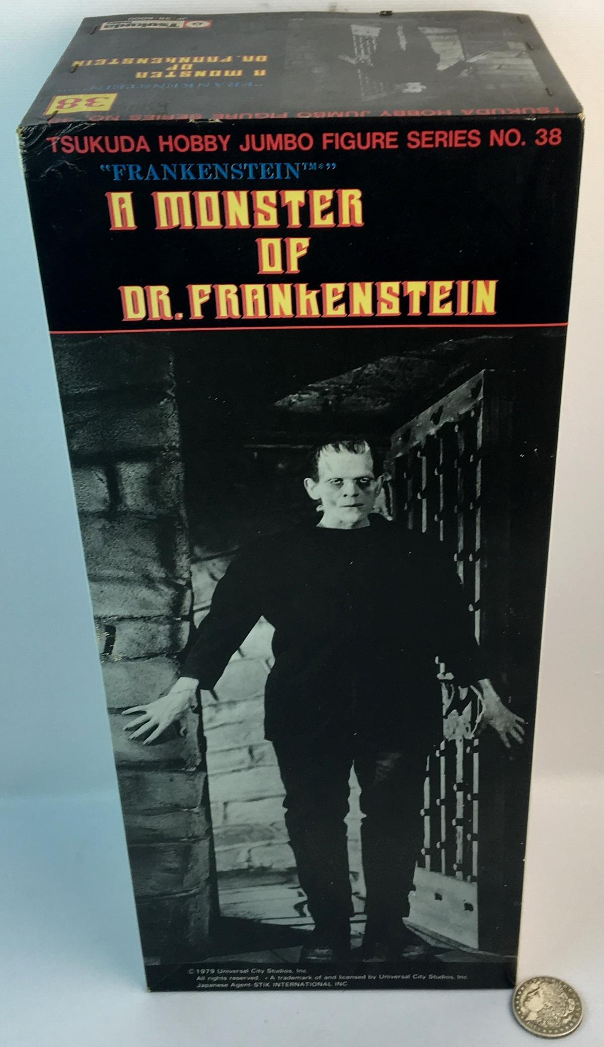 Vintage Tsukuda Hobby Frankenstein A Monster of Dr. Frankenstein Figure w/ Original Box