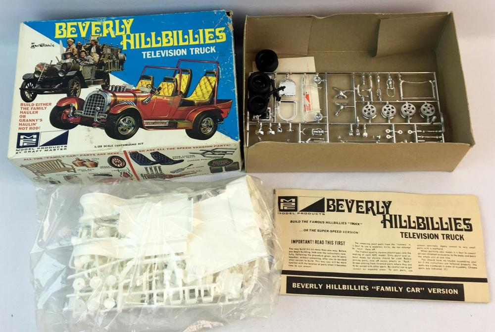 Vintage 1968 MPC The Beverly Hillbillies Television Truck 2 in 1 George Barris Customizing Kit 1:25 Model Kit UNBUILT