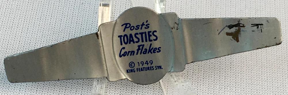Vintage 1949 Olive Oyl Post's Toasties Corn Flakes Cereal Premium Ring