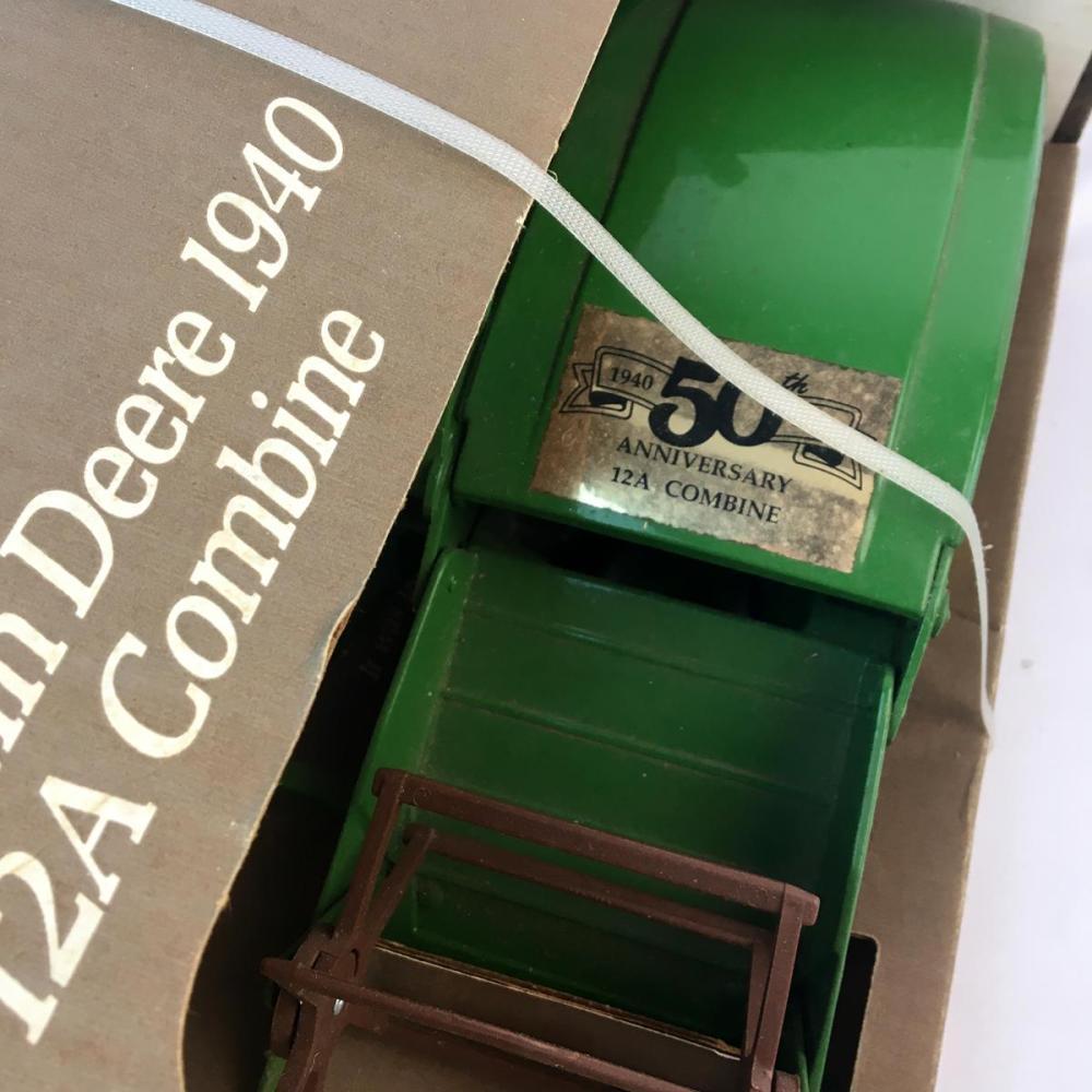 1991 John Deere 12A Combine 1940 Replica w/ Original Box