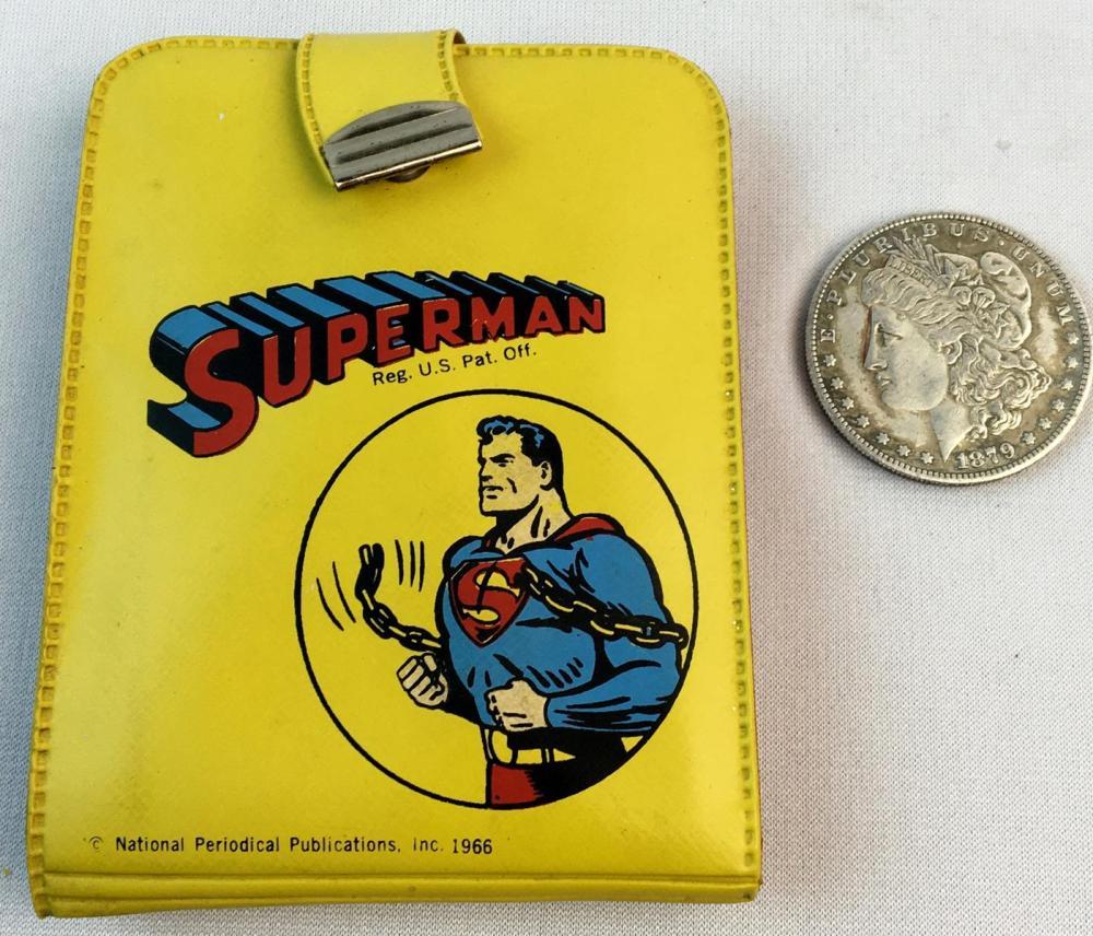 Vintage 1966 Superman Wallet SSP Standard Plastic Product Mattel