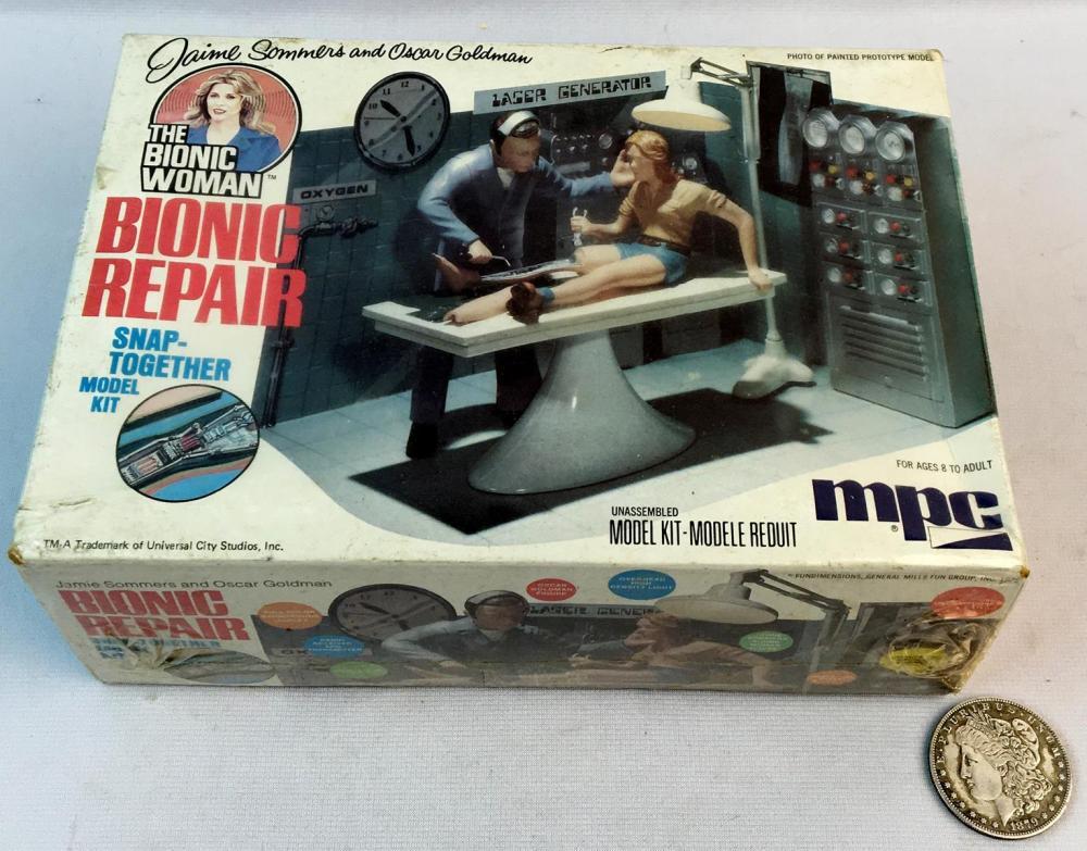 Vintage 1976 MPC The Bionic Woman Bionic Repair Model Kit SEALED
