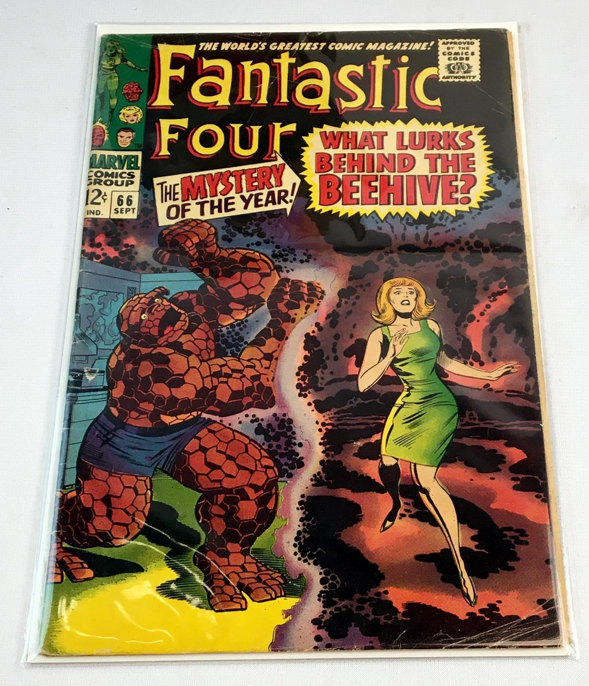 Vintage 1967 Fantastic Four (1st Series) No. 66 Marvel 12 Cent Comic Book
