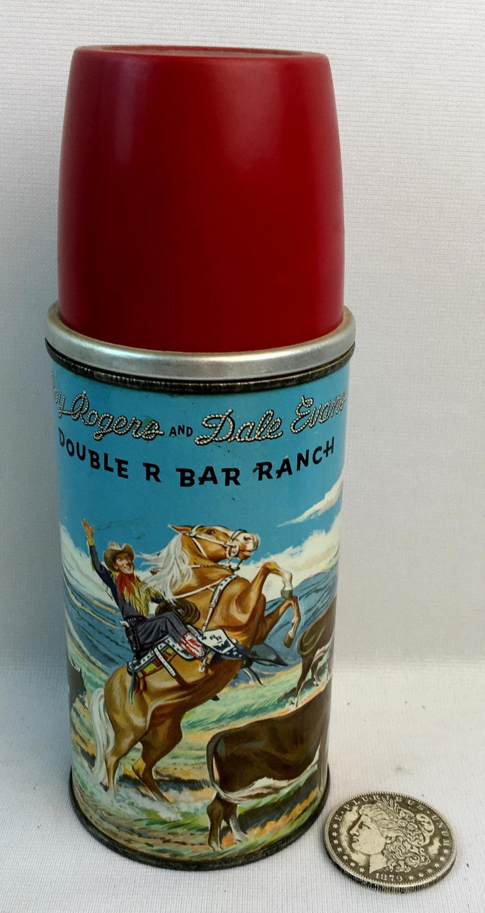 Vintage 1950'5 Roy Rogers and Dale Evans Double R Bar Ranch Thermos