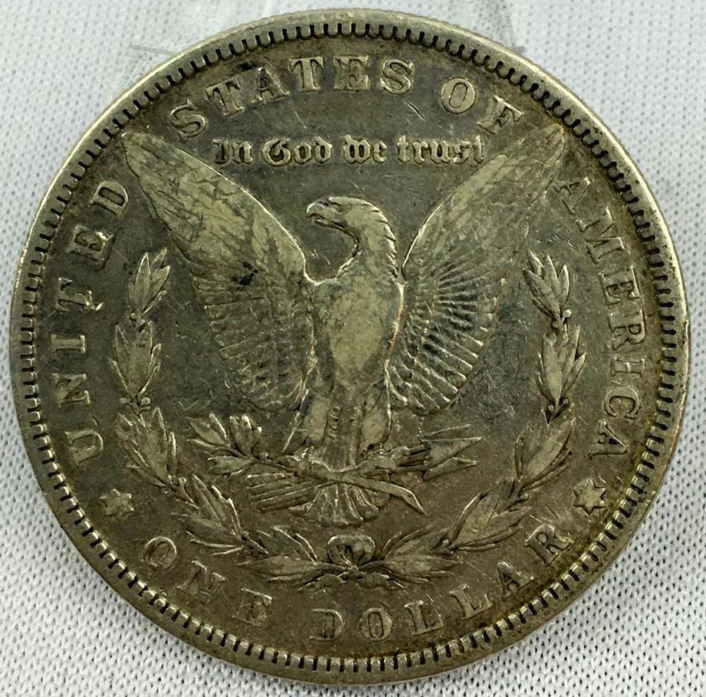 1884 US $1 Morgan Silver Dollar W/ Case
