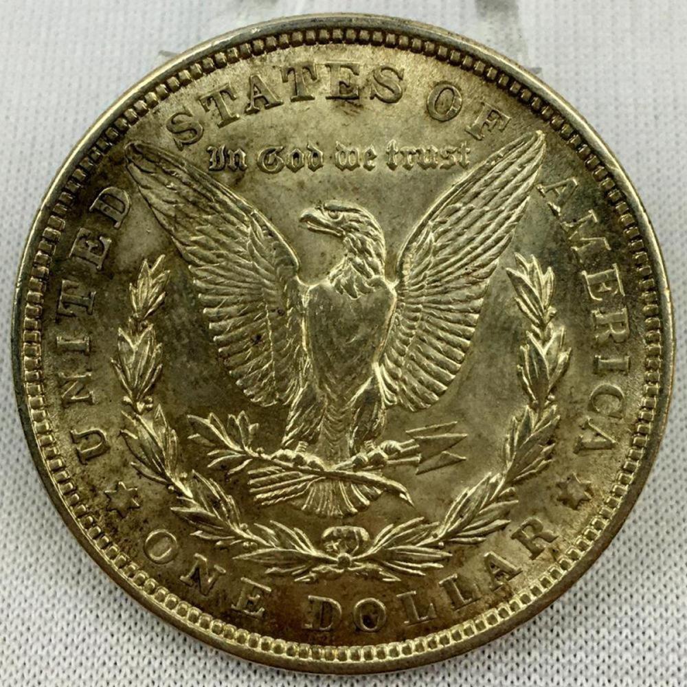 1921 US $1 Morgan Silver Dollar W/ Case BU