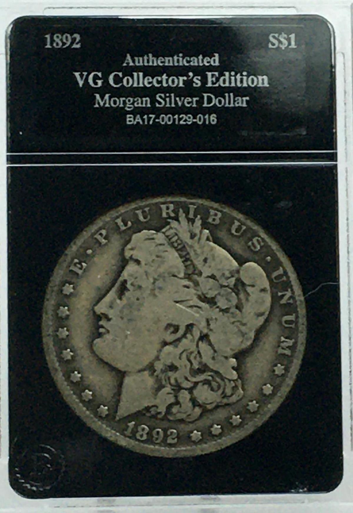 1892 US $1 Morgan Silver Dollar GRADED