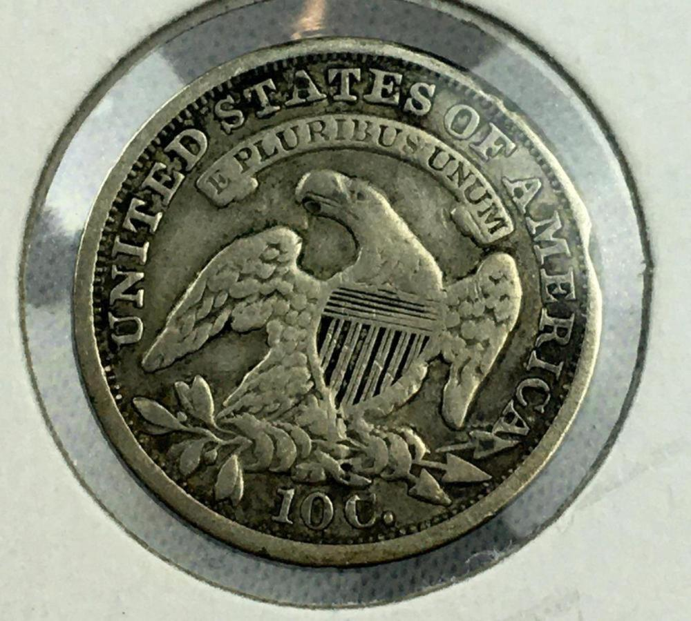 1834 US 10c Capped Bust Silver Dime EF40