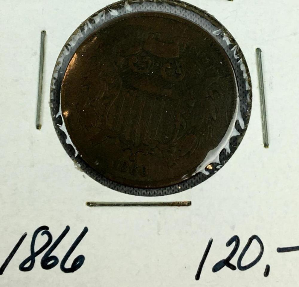 1866 US 2-Cent Piece AU