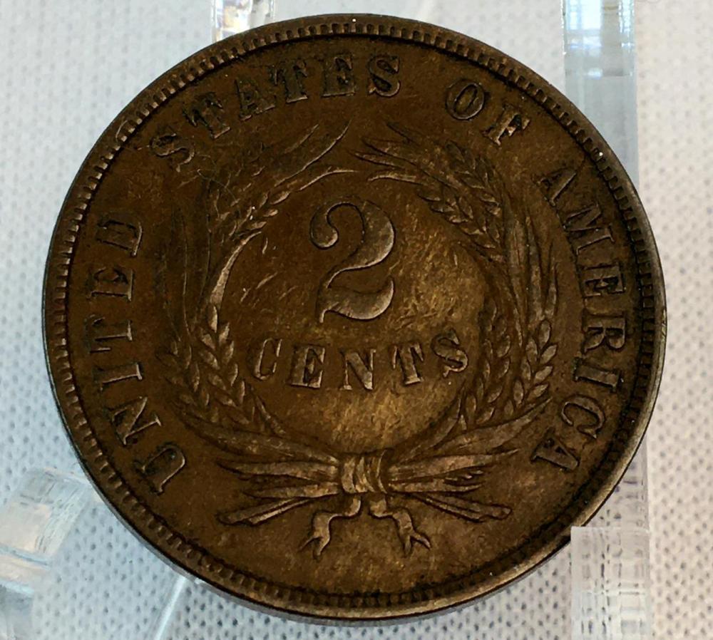1868 US 2-Cent Piece