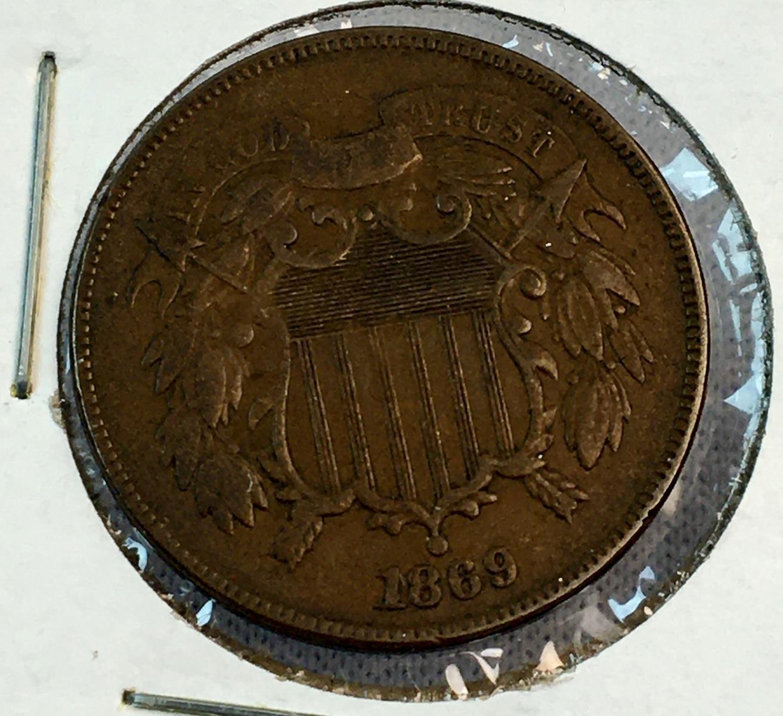 1869 US 2-Cent Piece