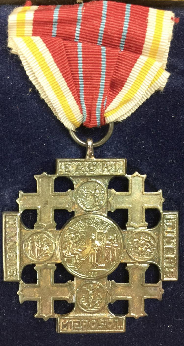 Vatican Pope Leo XIII Medal of the Holy Land Pilgrims Jerusa