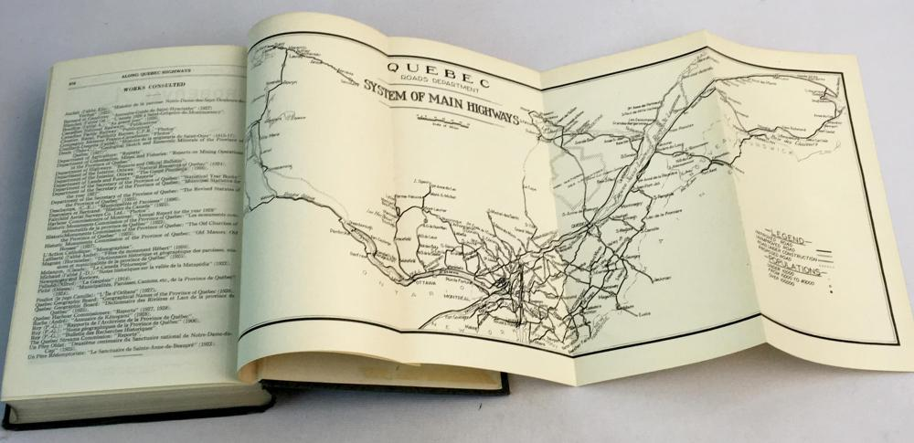 1930 Along Quebec Highways by Department of Highways & Mines w/ Maps Included Illustrated FIRST EDITION