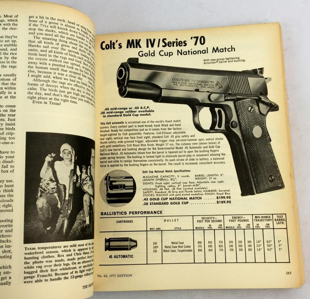 1973 Shooter's Bible: World's Standard Firearms Reference Book Illustrated FIRST EDITION