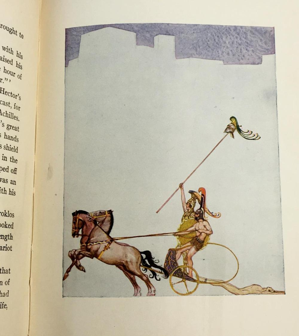 1930 The Adventures of Odysseus & The Tale of Troy by Padraic Colum ILLUSTRATED