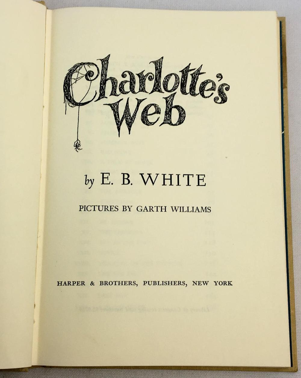 1963 Charlotte's Web by E. B. White ILLUSTRATED