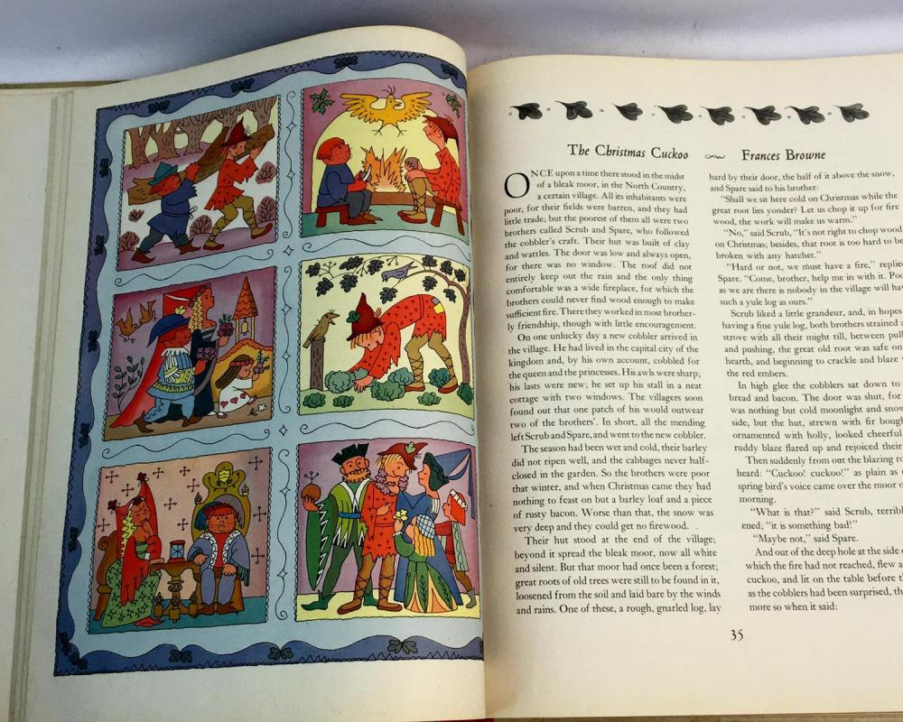 1947 Merry Christmas! Book ILLUSTRATED by Natasha Simkhovitch
