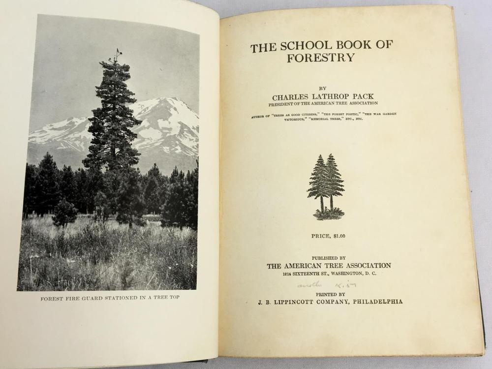 1923 The School Book of Forestry by Charles Lathrop Pack PHOTO ILLUSTRATED