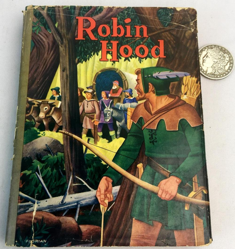 1940 The Merry Adventures of Robin Hood by Howard Pyle w/ Dust Jacket ILLUSTRATED