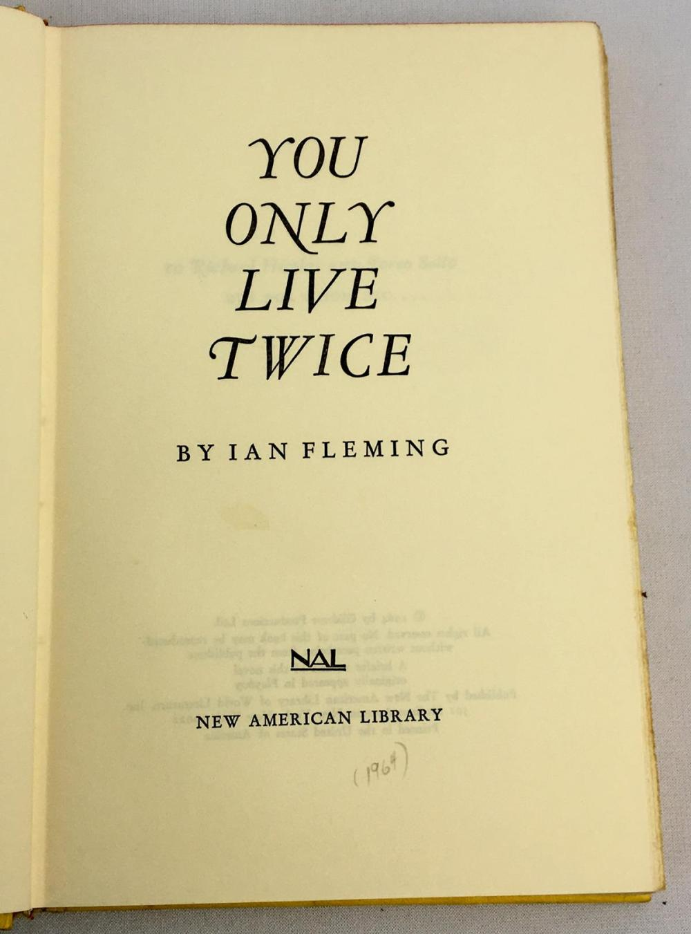 1964 You Only Live Twice: A James Bond Novel by Ian Fleming w/ Dust Jacket