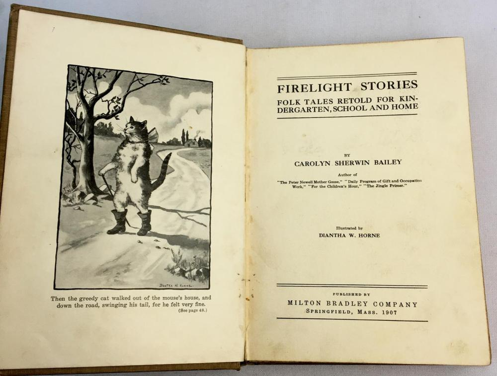1907 Firelight Stories by Carolyn Sherwin Bailey Illustrated FIRST EDITION