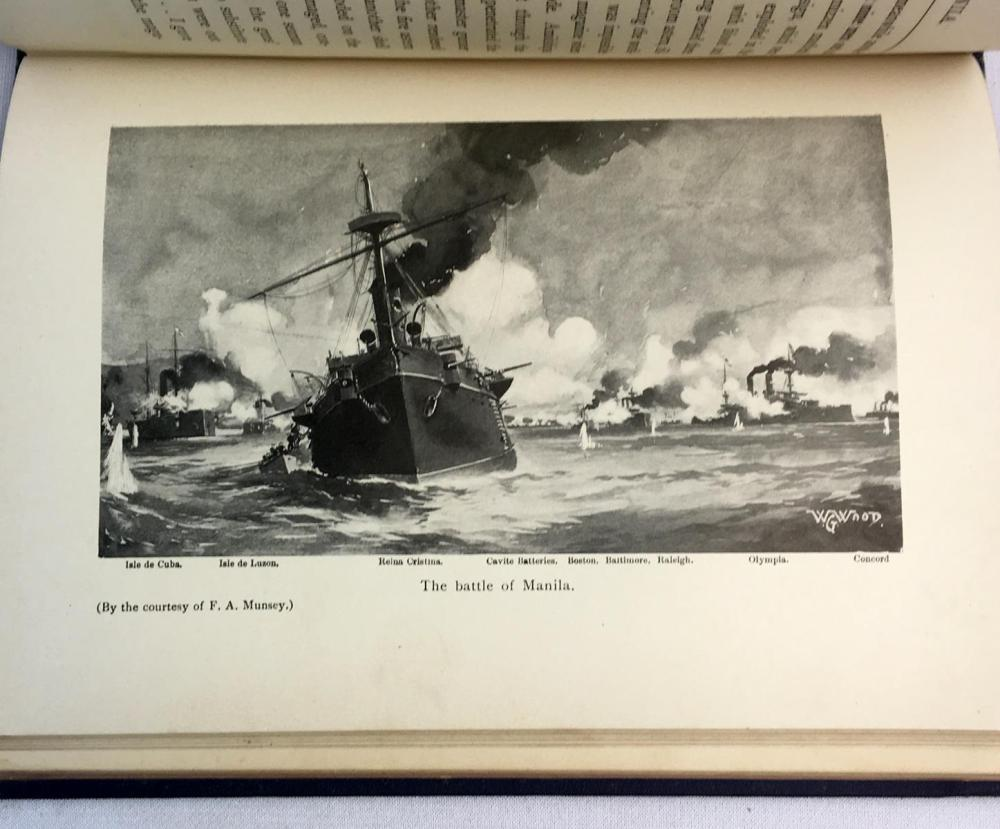 1899 The Hero of Manila: Dewey on the Mississippi and The Pacific by Rossiter Johnson Illustrated FIRST EDITION