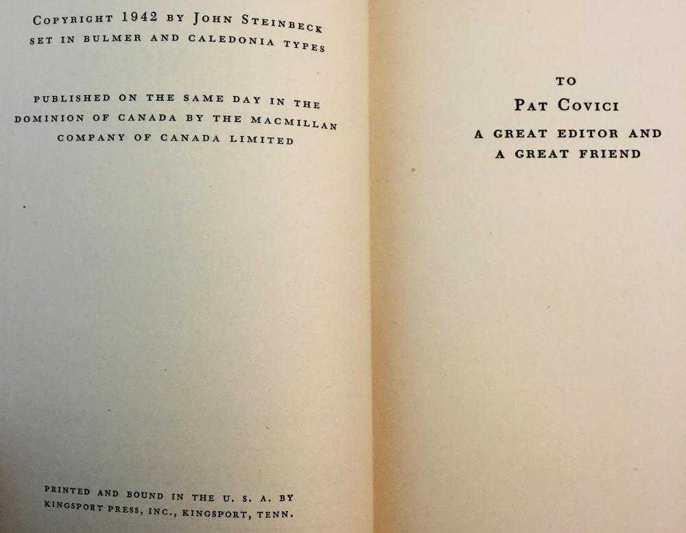 1942 The Moon Is Down by John Steinbeck