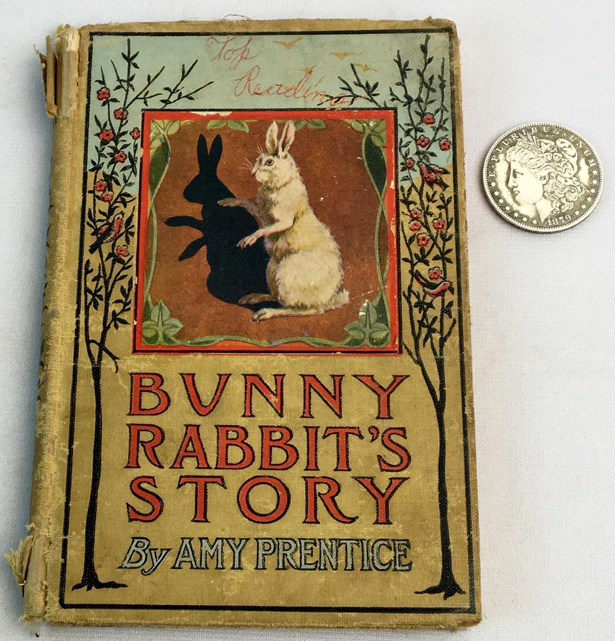 1906 Bunny Rabbit's Story by Amy Prentice Illustrated FIRST EDITION